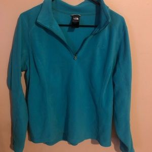 The North Face Quarter-Zip Jacket. Teal